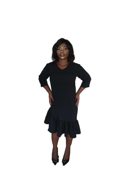 Black Aster Dress